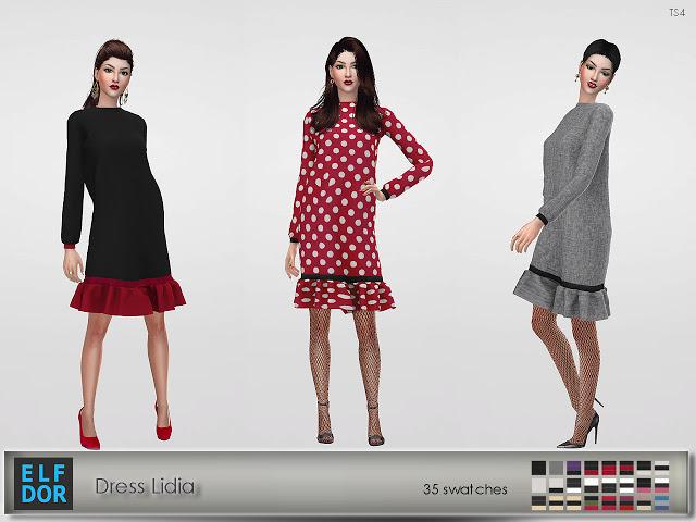 Lidia dress at Elfdor Sims image 11416 Sims 4 Updates