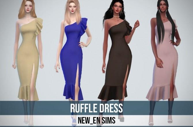 Ruffle Dress at NEWEN image 1148 670x442 Sims 4 Updates