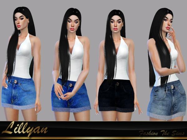 Sims 4 Skirt Selenna by LYLLYAN at TSR