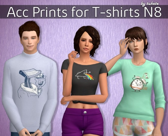 Sims 4 Acc Prints for T shirts Part 8 at Tukete