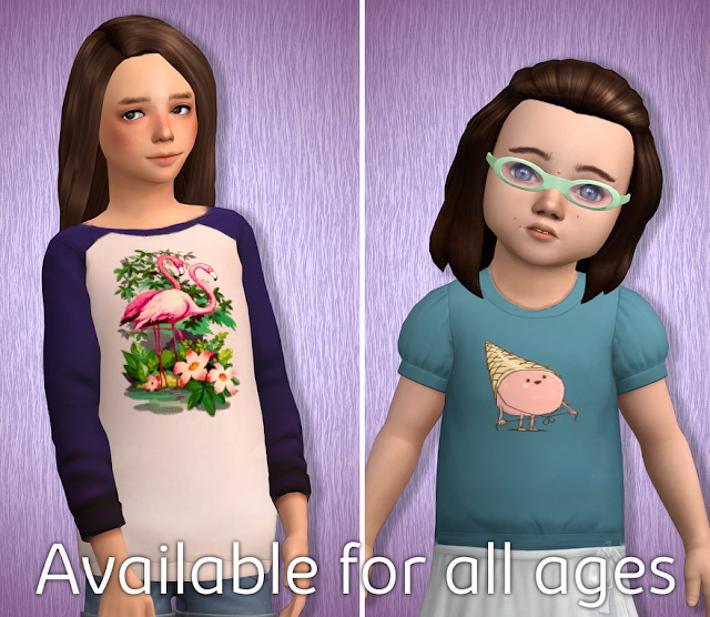 Acc Prints for T shirts Part 8 at Tukete image 1162 Sims 4 Updates