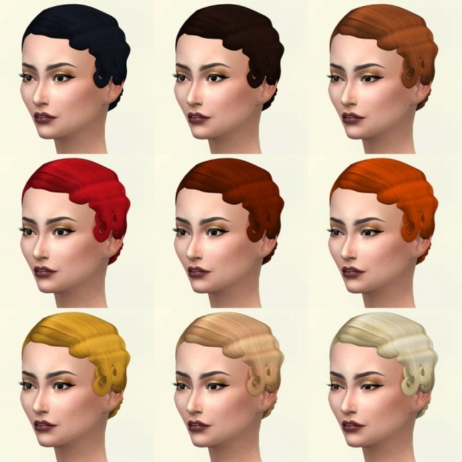 Sims 4 Marlene hair recolors by Delise at Sims Artists