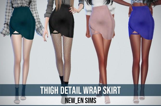 Thigh Detail Wrap Skirt at NEWEN » Sims 4 Updates