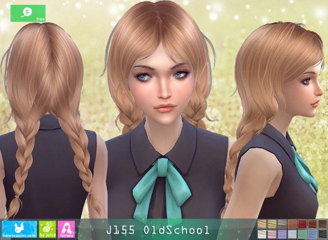 J155 OldSchool hair at Newsea Sims 4 image 11911 670x491 Sims 4 Updates