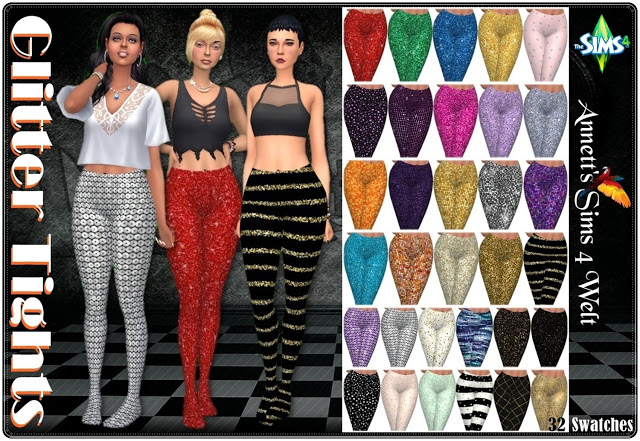 Glitter Tights at Annett's Sims 4 Welt image 1193 Sims 4 Updates