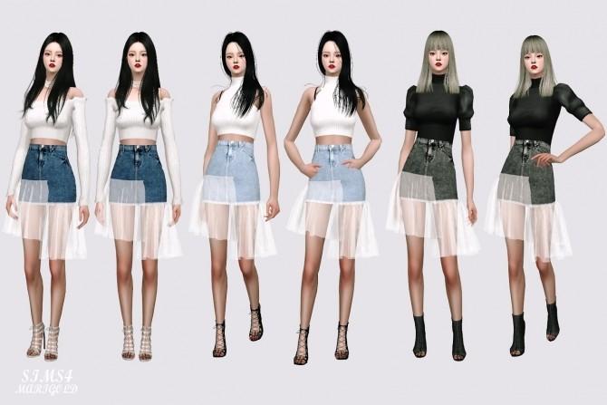 Mesh Denim Skirt at Marigold image 1199 670x447 Sims 4 Updates