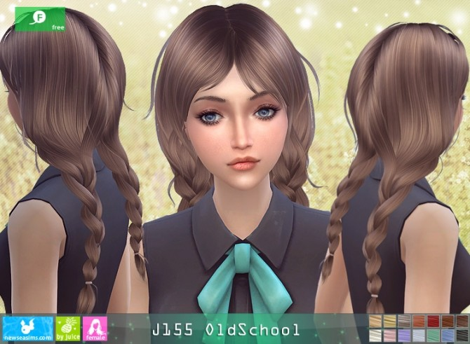 J155 OldSchool hair at Newsea Sims 4 image 12013 670x491 Sims 4 Updates