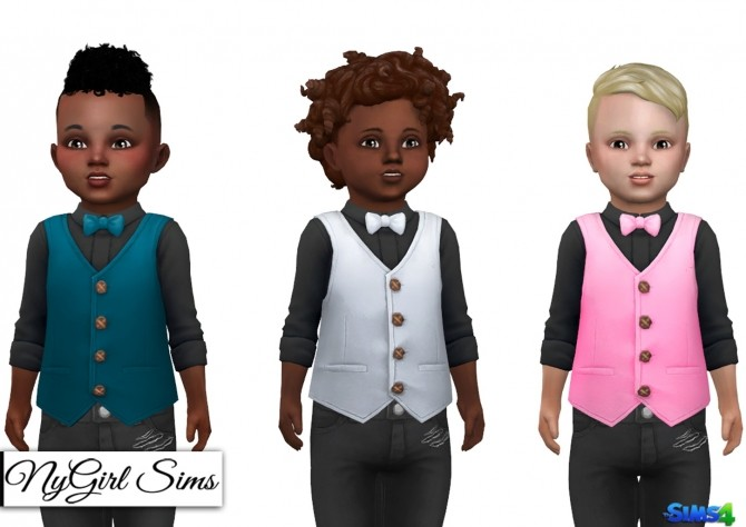 Sims 4 Button Up with Vest and Bowtie at NyGirl Sims