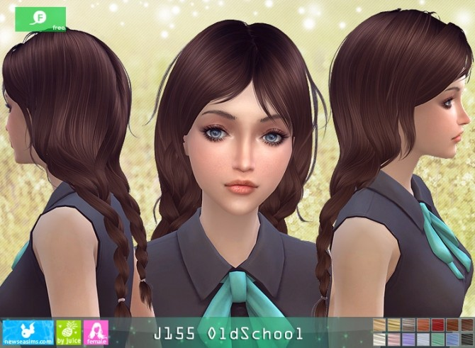 J155 OldSchool hair at Newsea Sims 4 image 12117 670x491 Sims 4 Updates