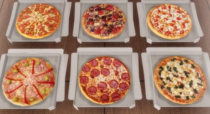 Sims 4 Pizza set at Descargas Sims