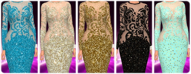 Get Famous Dress Nr. 4 Recolors at Annett's Sims 4 Welt image 1233 Sims 4 Updates