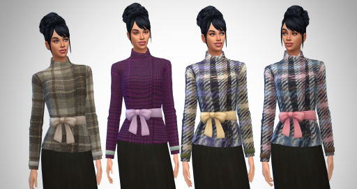 Sims 4 Wool Bow Jacket at Birksches Sims Blog