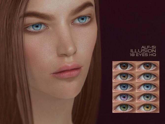 Sims 4 Eyes N12 Illusion HQ at Alf si