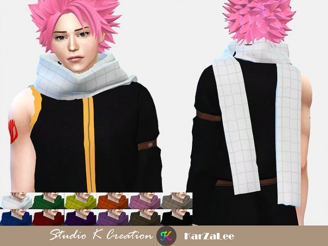 Fairy Tail Natsu Dragneel S Outfit At Studio K Creation 187 Sims 4 Updates