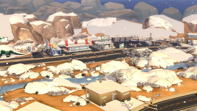 Sims 4 Oasis Springs Snow Mod at MSQ Sims