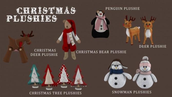 Sims 4 Christmas plushies at Leo Sims