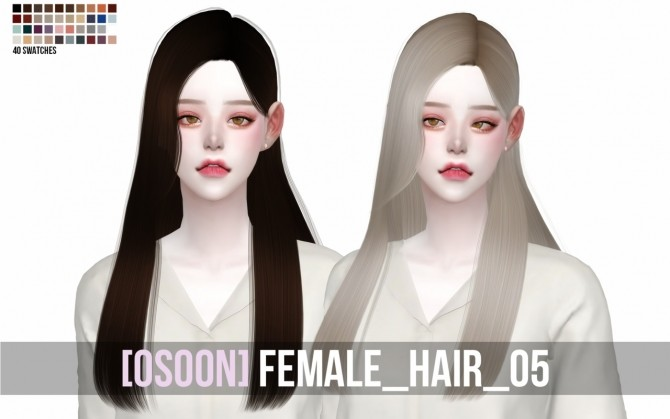 Female Hair 05 at Osoon image 1267 670x419 Sims 4 Updates