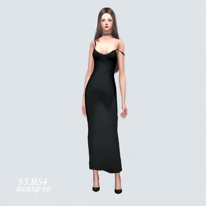 Sims 4 Natural Tight Long Dress at Marigold
