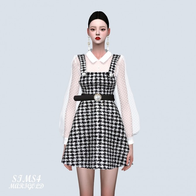 Sims 4 See Through Blouse With Dress at Marigold