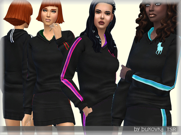 Sims 4 Hoody & Stripes by bukovka at TSR