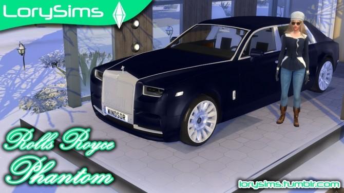 Sims 4 Rolls Royce Phantom at LorySims