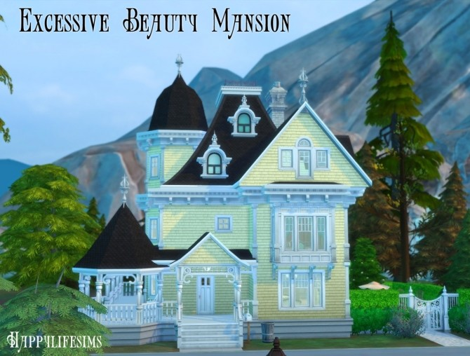 Sims 4 Forgotten Hollow House Set at Happy Life Sims