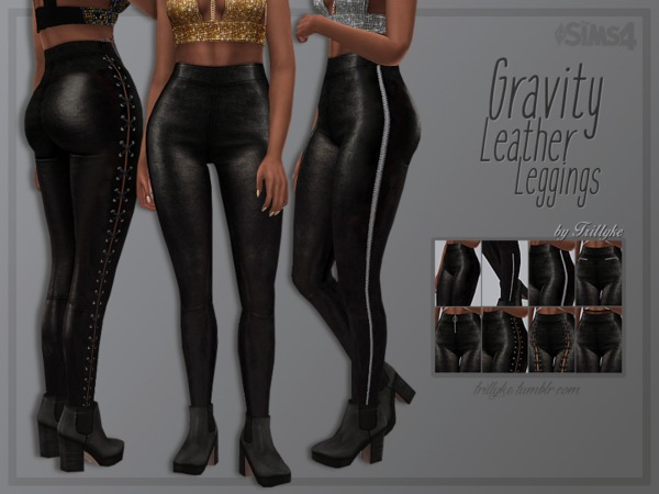 Gravity Leather Leggings by Trillyke at TSR image 133 Sims 4 Updates