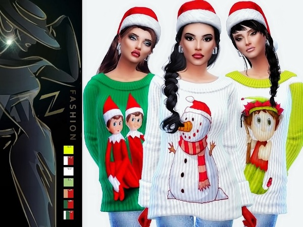 Merry Christmas sweaters by ZitaRossouw at TSR image 1337 Sims 4 Updates