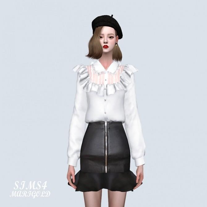 Sims 4 Lace Frill blouse at Marigold