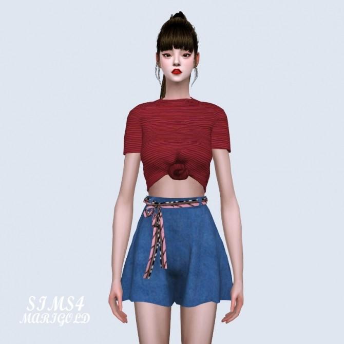 Sims 4 Mari Tied Crop Top at Marigold