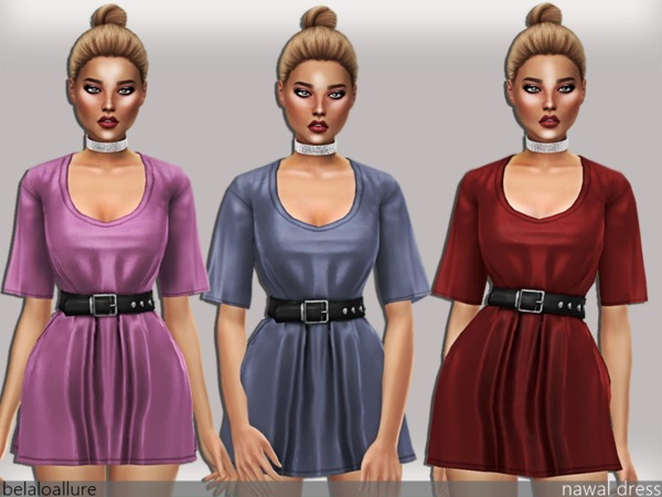 Belaloallure Nawal dress by belal1997 at TSR image 135 Sims 4 Updates