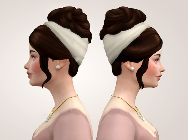 Sims 4 The Incomparable hairstyle Updo at Historical Sims Life