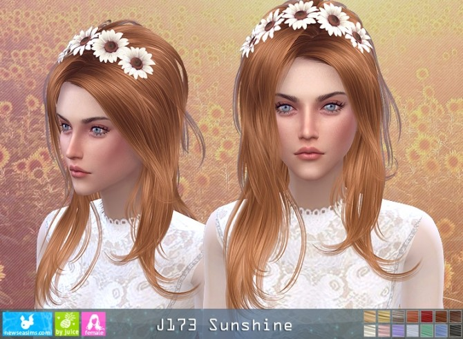 J173 Sunshine hair (P) at Newsea Sims 4 image 1396 670x491 Sims 4 Updates