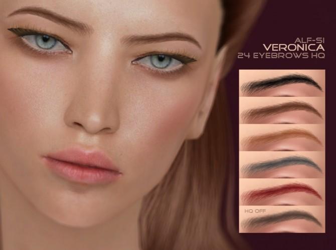 Sims 4 Eyebrows 29 Veronica HQ at Alf si