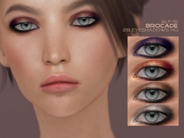 Sims 4 Brocade eyeshadow 05 HQ by Alf si at TSR