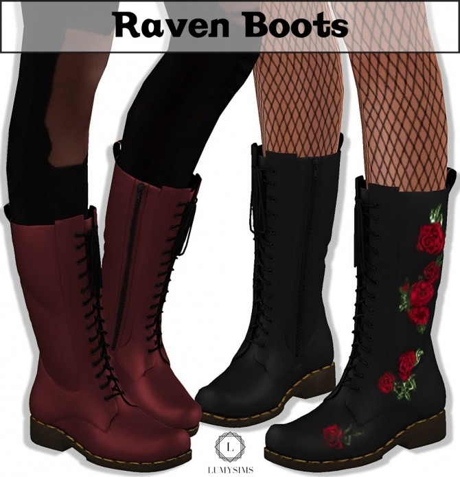 Raven Boots at Lumy Sims image 14211 670x695 Sims 4 Updates