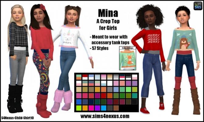 Mina Crop Top For Girls By Samanthagump At Sims 4 Nexus