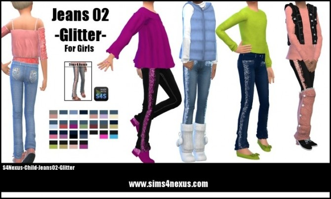 Jeans 02 Glitter by SamanthaGump at Sims 4 Nexus image 1422 670x402 Sims 4 Updates
