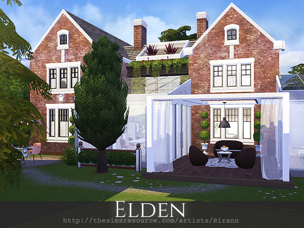 Sims 4 Elden cosy home by Rirann at TSR