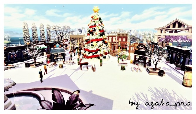 Xmas Square at Agathea k image 1504 670x388 Sims 4 Updates
