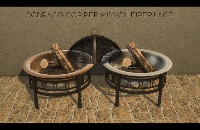 CobraCo Mission Fireplace + Timber Chairs by daer0n at Blooming Rosy