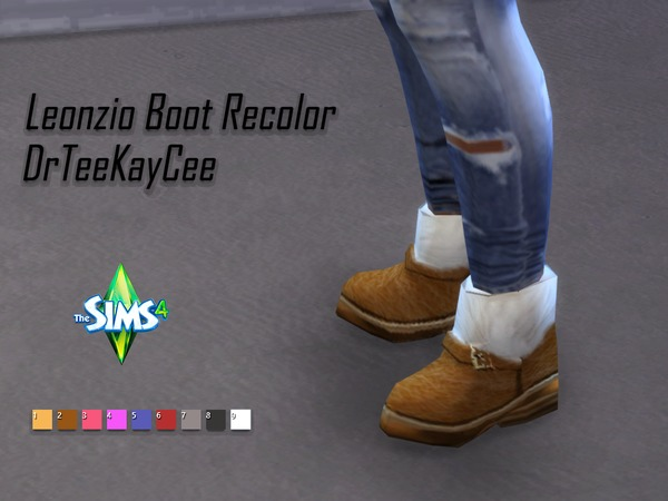 Recolor of Madlen Leonzio Boots by drteekaycee at TSR image 151 Sims 4 Updates