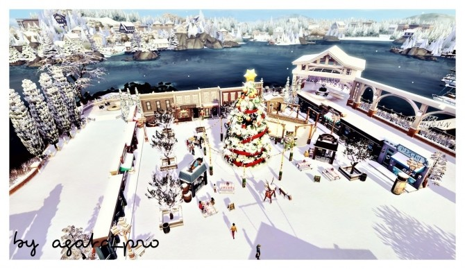 Xmas Square at Agathea k image 15110 670x388 Sims 4 Updates