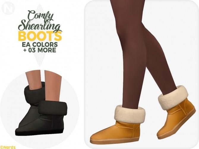 Sims 4 Comfy Shearling Boots at Nords Sims