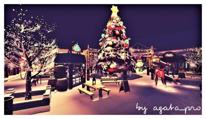 Xmas Square at Agathea k image 1533 670x388 Sims 4 Updates