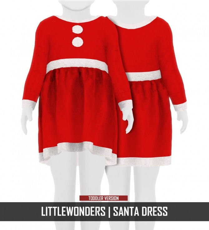 Sims 4 LITTLEWONDERS SANTA OUTFITS by Thiago Mitchell at REDHEADSIMS