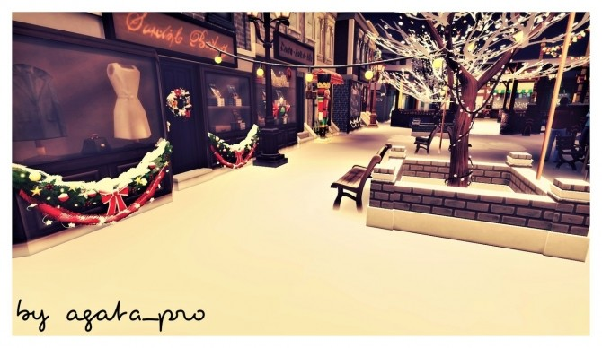 Xmas Square at Agathea k image 1563 670x388 Sims 4 Updates