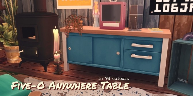 Sims 4 FIVE O ANYWHERE TABLE at Picture Amoebae
