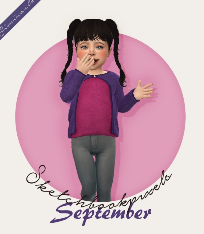 Sketchbookpixels September 3T4 top for your toddlers at Simiracle image 1571 670x767 Sims 4 Updates