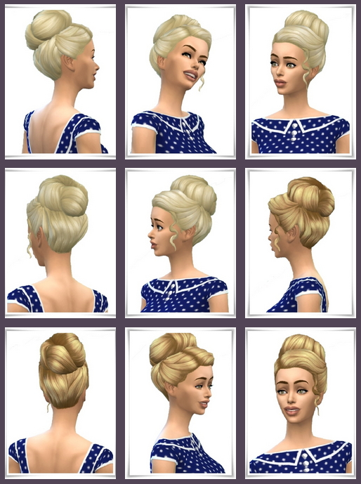 Sims 4 Come on Bun at Birksches Sims Blog